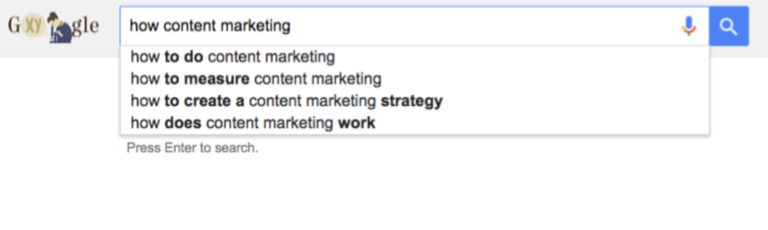 how content marketing google search