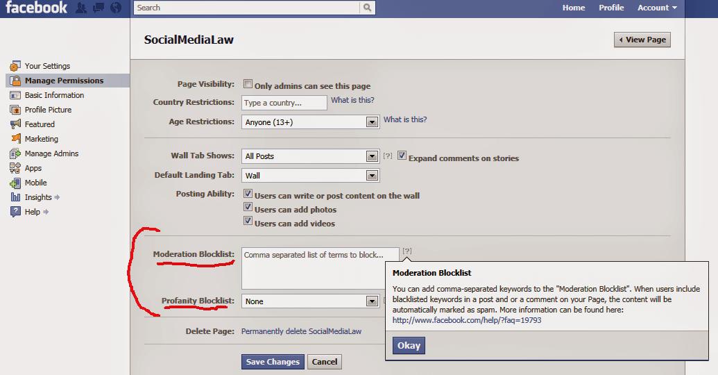 facebook blocklist