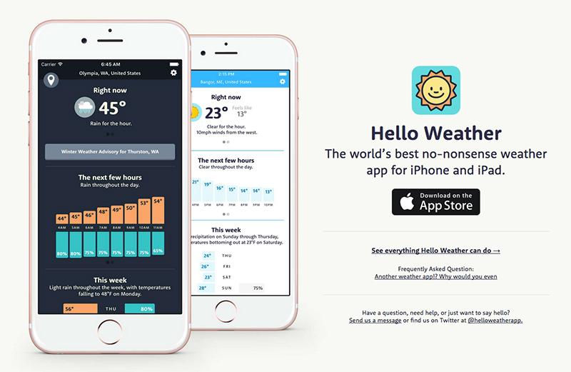 hello weather app