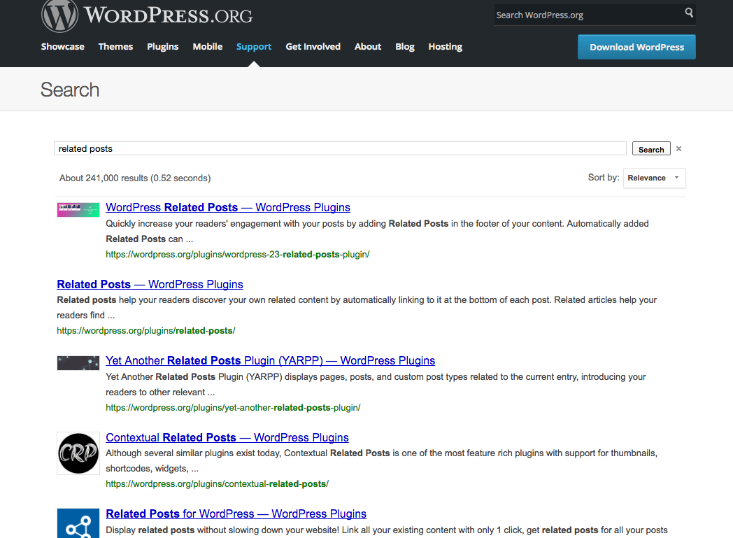 related posts plugins