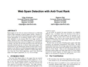 web spam study antitrust rank