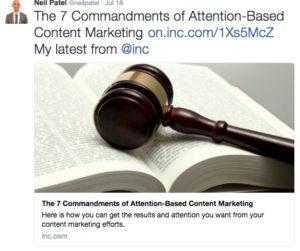 Neil Patel 7 commandments