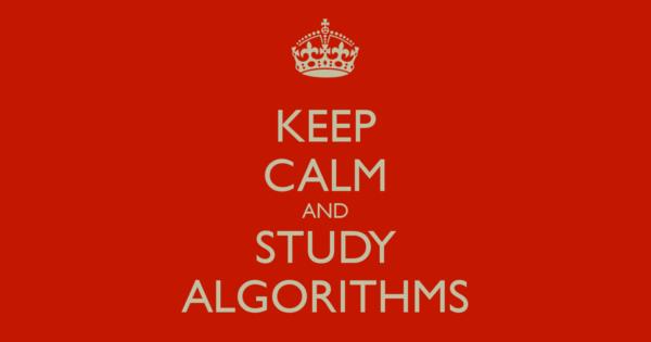 study algorithms