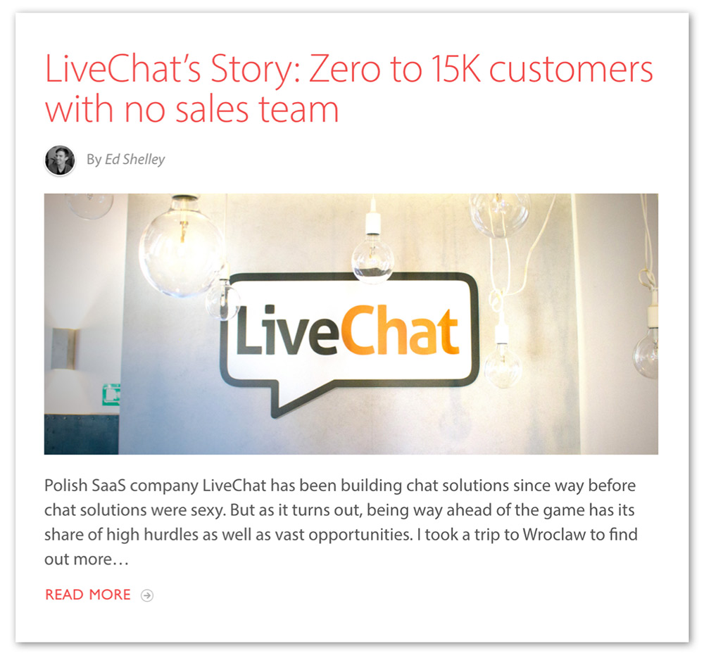 live chat story
