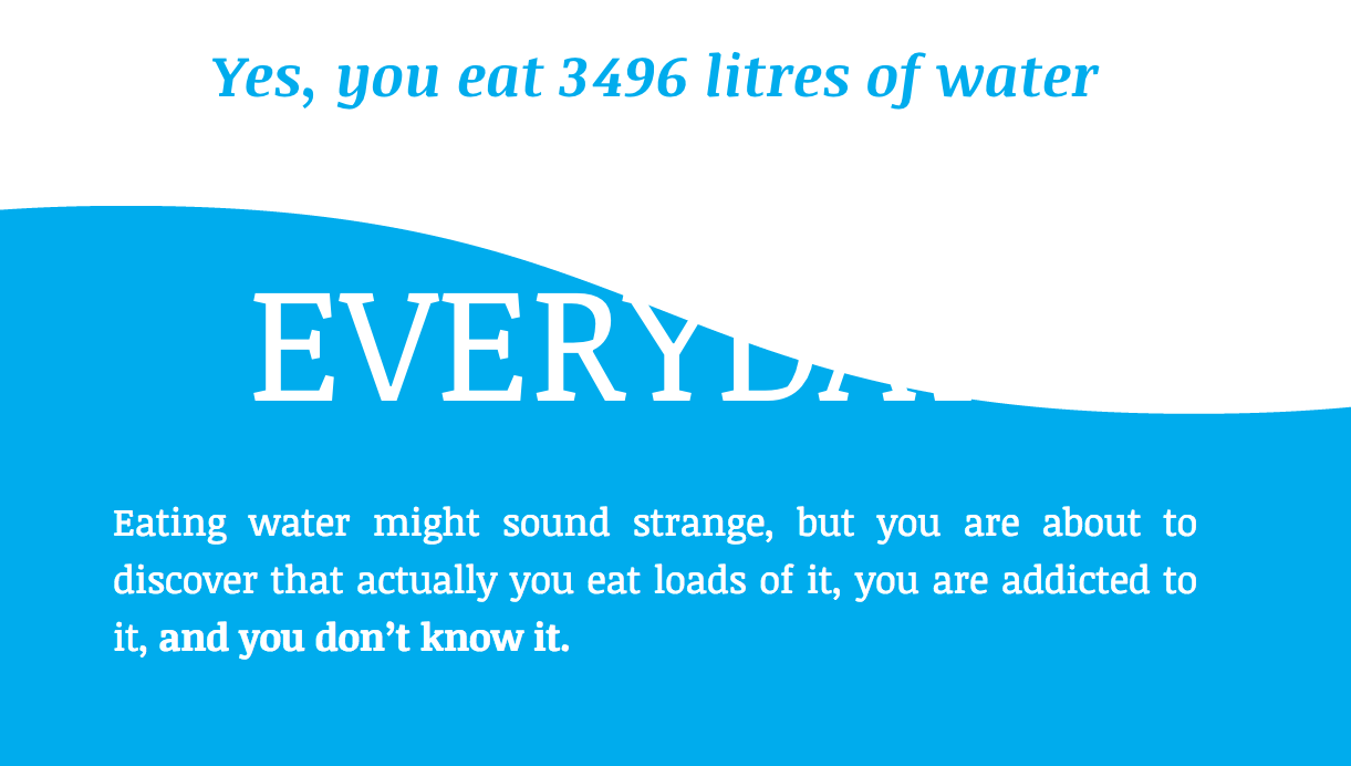 you eat 3496 litres of water every day
