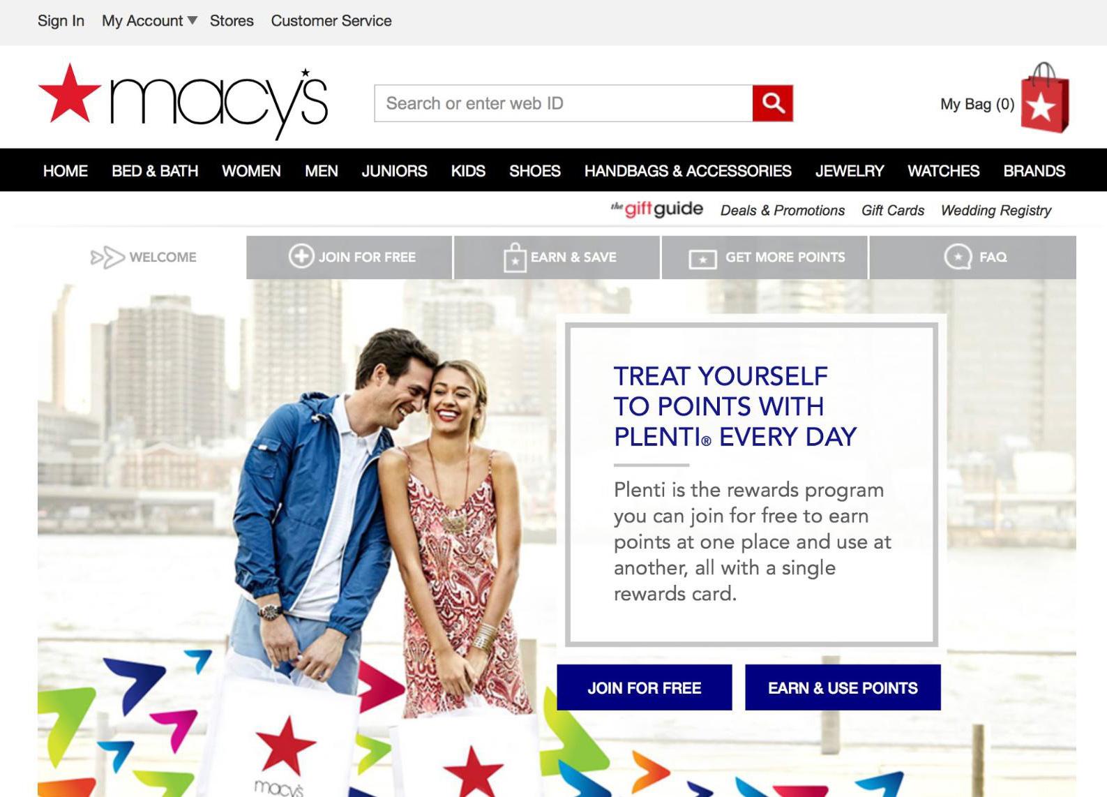 macys webpage