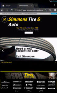 simmons tire and auto mobile