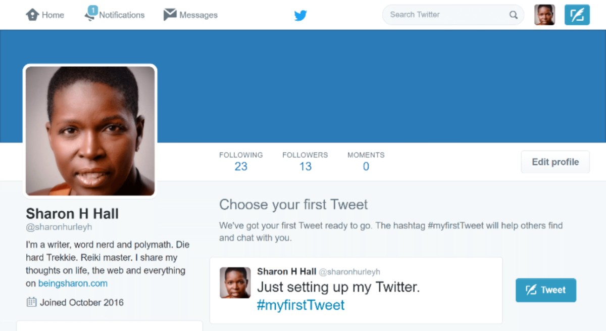 edit twitter profile