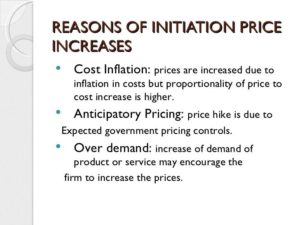initiation price increase
