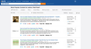 ahrefs author search