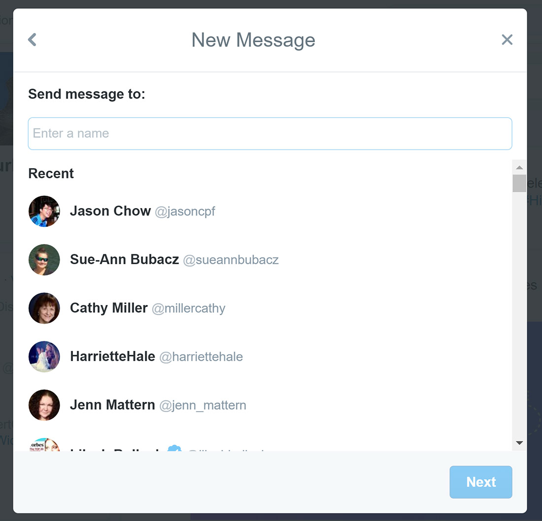 twitter compose message