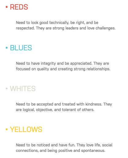 reds blues yellows