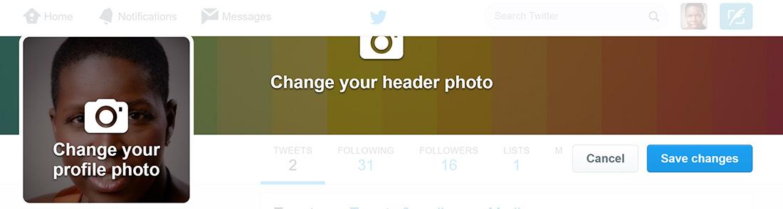 edit twitter header image