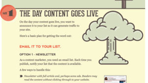 content goes live