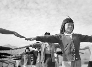 Ansel Adams Manzanar Calisthenics