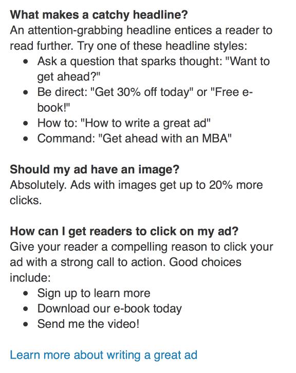 Text Ad Copy Tips