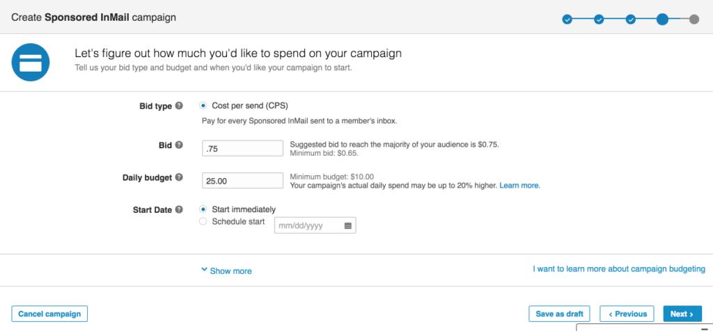 Sponsored InMail Bidding