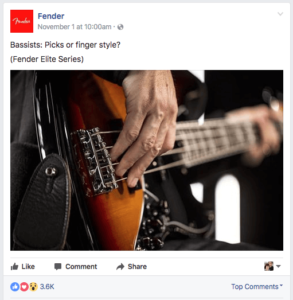 Fender bass post