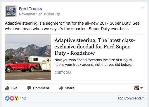 ford trucks facebook post