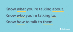 know how to talk