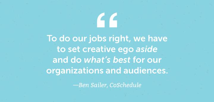 set aside ego