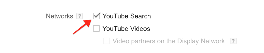 Select YouTube Search Network