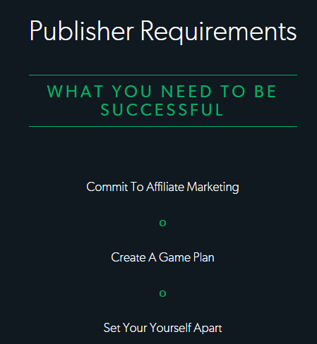 publisher requirements