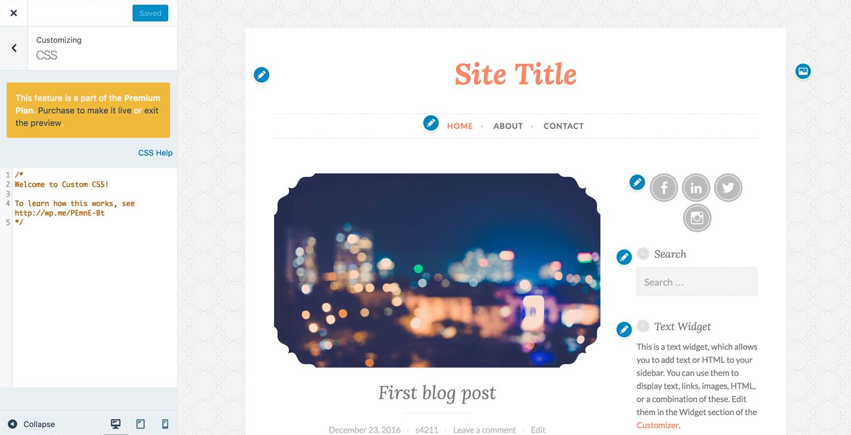 WordPress Custom Design CSS Editor
