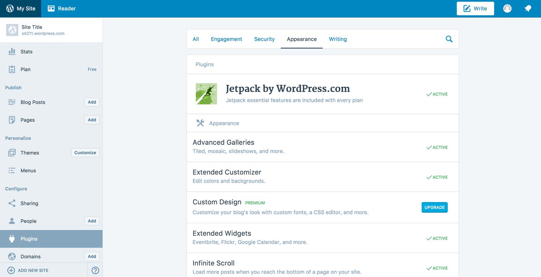 WordPress.com options
