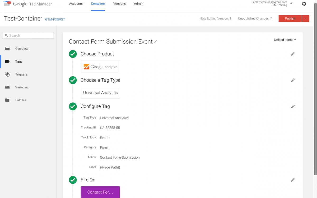 form tracking google analytics