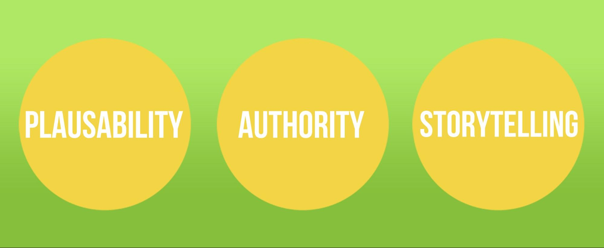 Plausability Authority storytelling