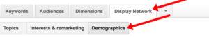 Display network demographics