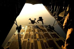 Jumping out of a plane