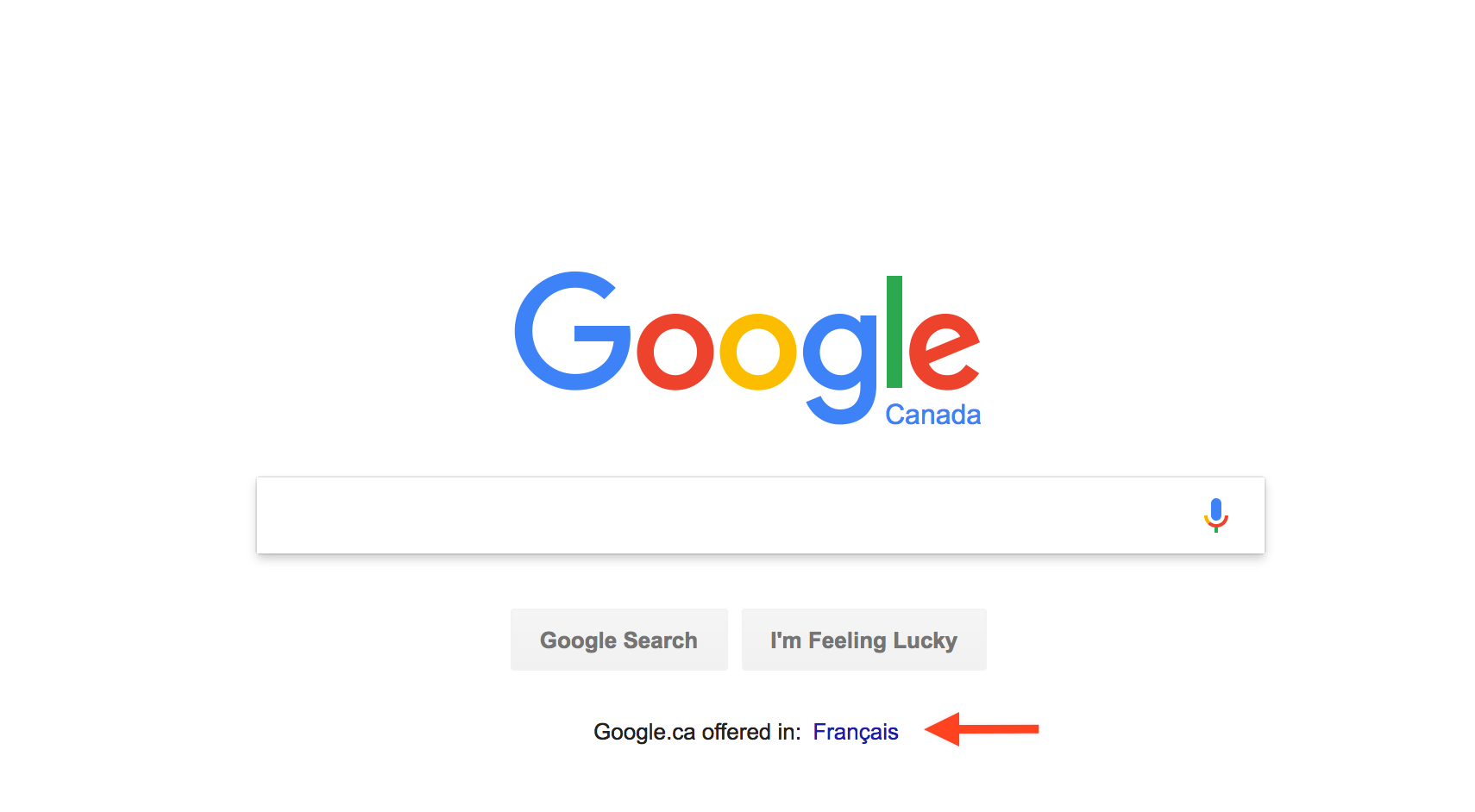 Google Search in French