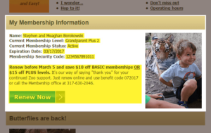 indy zoo personalized email example highlights