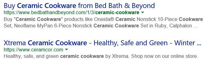Google Search Ceramic Cookware