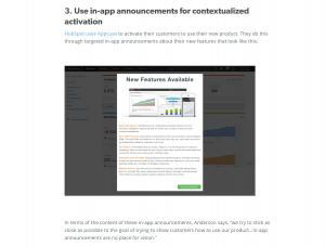 in-app announcements