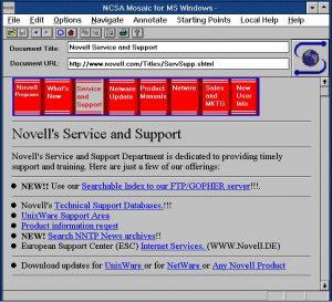 NCSA Mosaic MS Windows