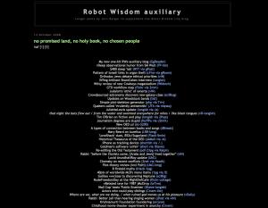 Robot Wisdom Auxilary