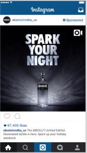 Absolut Vodka Instagram