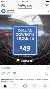 SeatGeek Instagram Ad