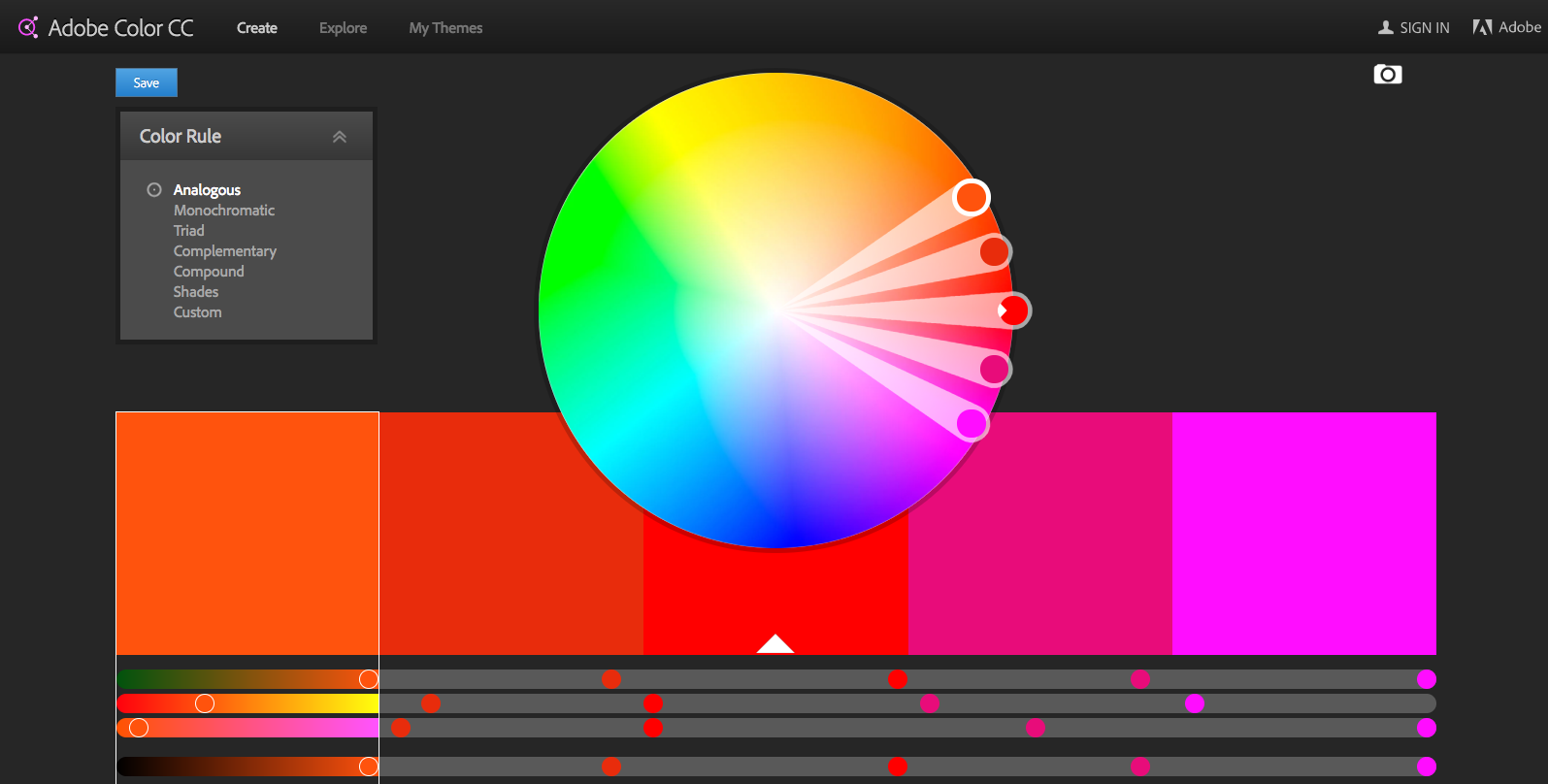Color theory online games - 7 Adobe Color Cc Color Wheel