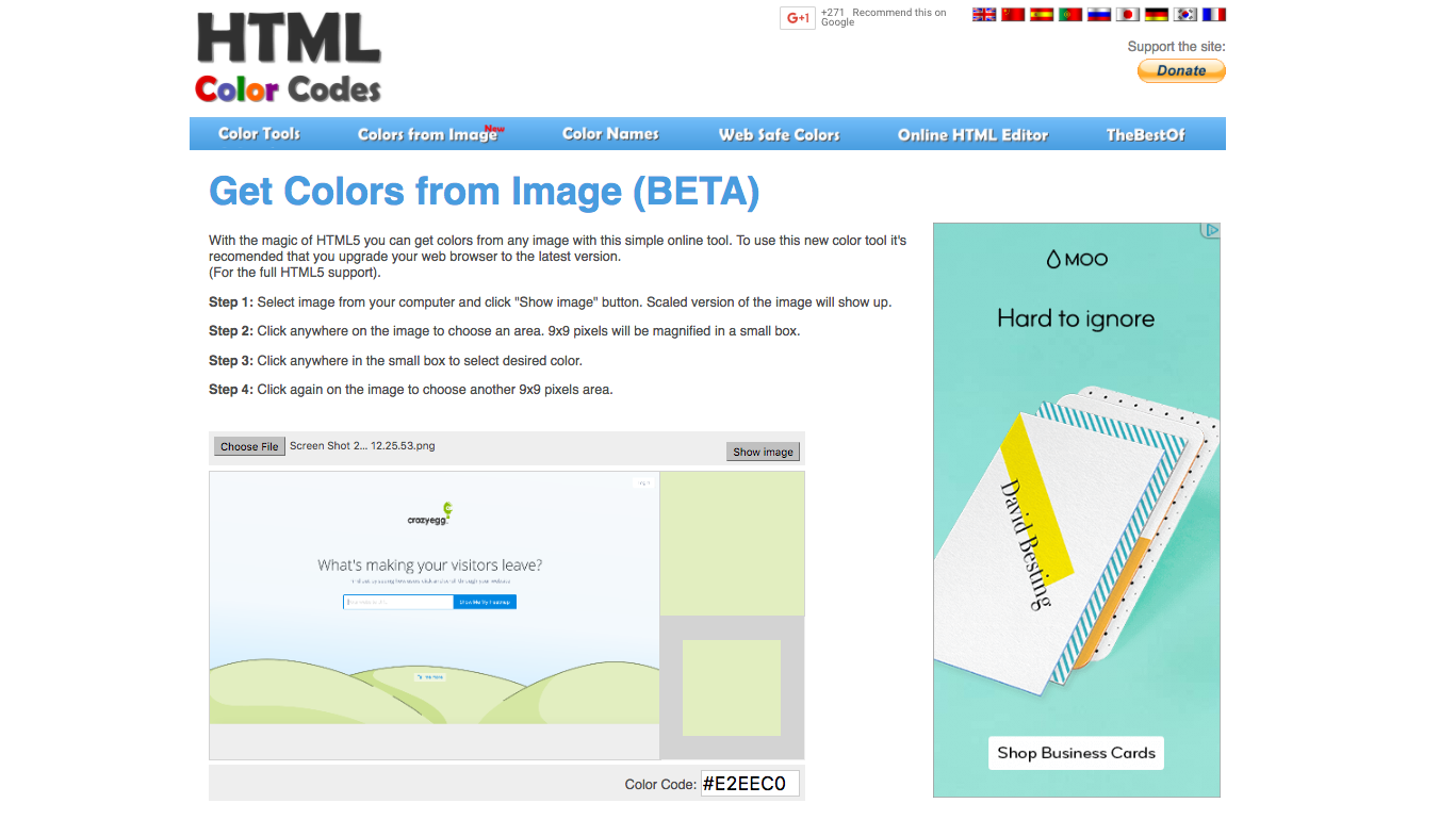 a handy list of resources for picking the perfect website color