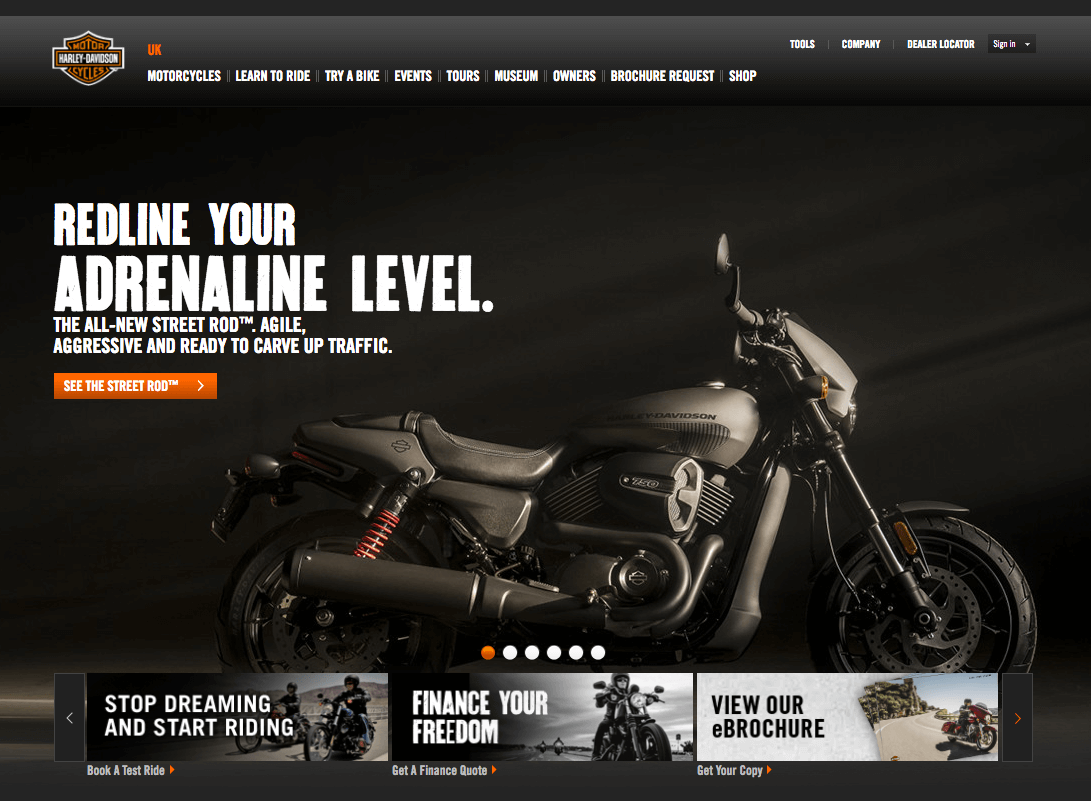 Harley Davidson screenshot
