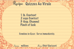 Recipe for Quizzes Au Virale