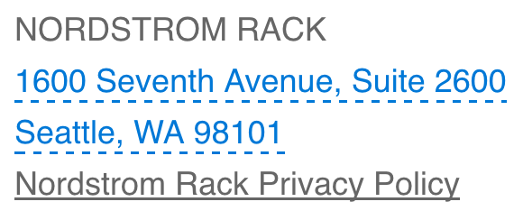Nordstrom rack privacy policy