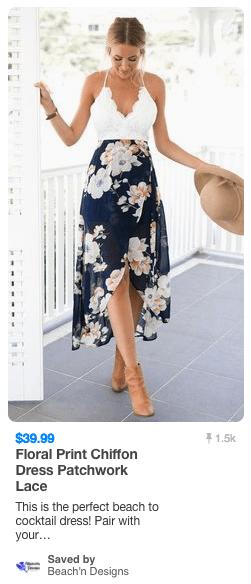 Floral dress pin