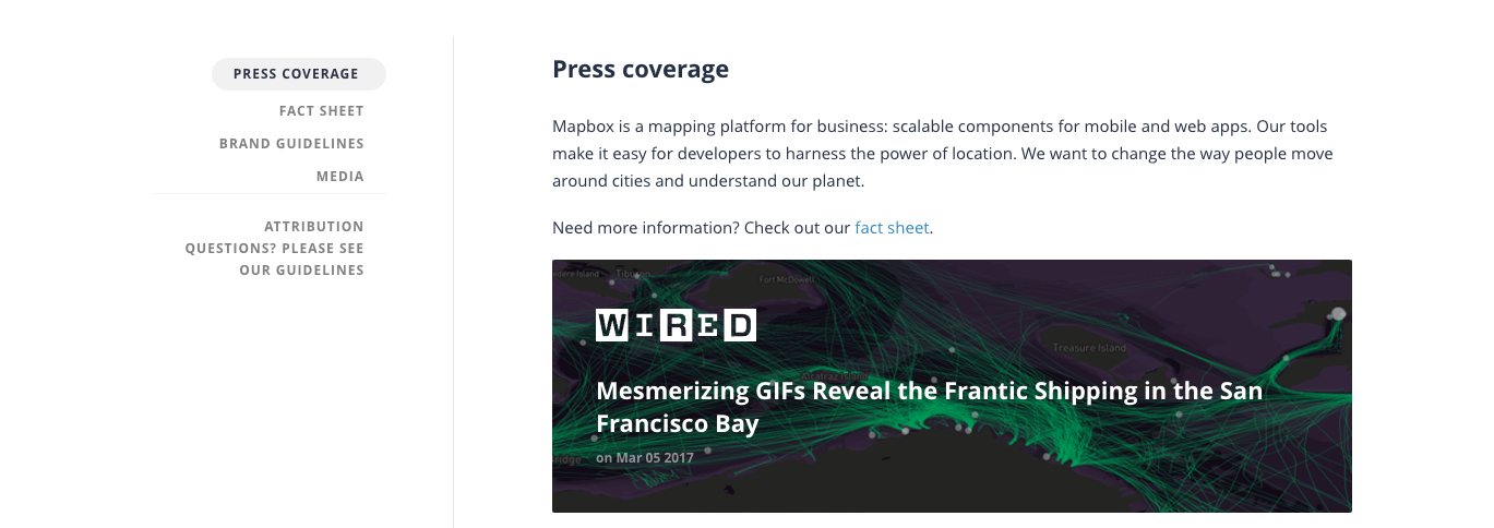 Mapbox Press Coverage