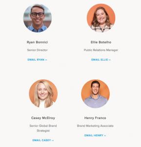 Team Emails