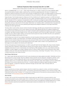 Amazon press release boilerplate